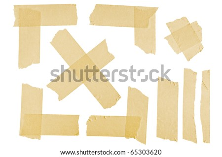 Masking tape corners and stripes - stock photo
