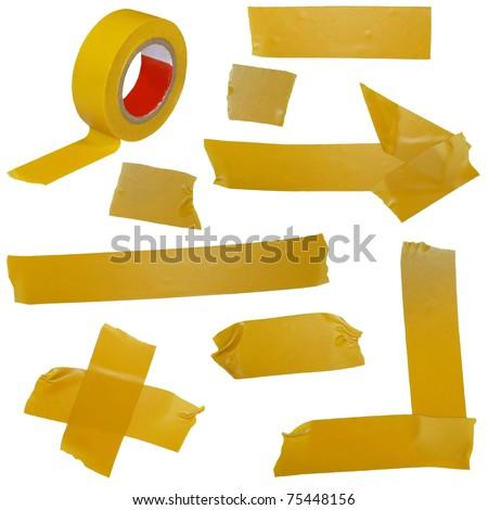 masking tape isolated on white background - stock photo