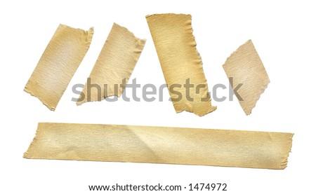 Masking tape on white. - stock photo