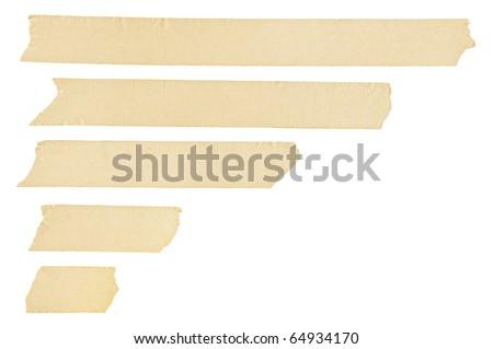 Masking tape streaks - stock photo