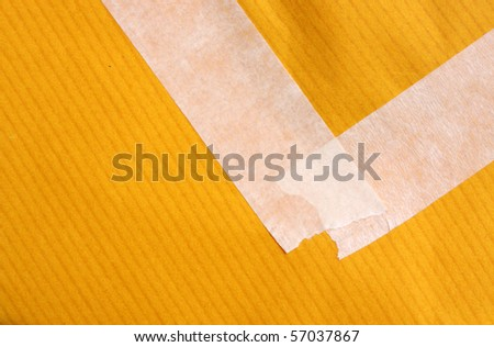 Masking tape with paper - stock photo
