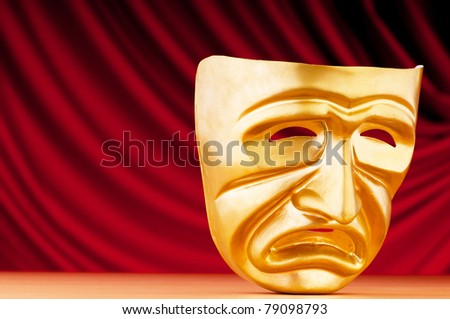 Masks with the theatre cThis image is already in your portfolio. Do not resubmit.oncept - stock photo