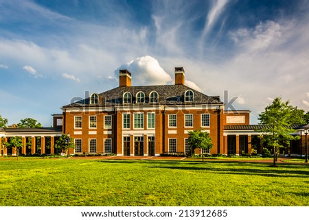 Mason Hall, at John Hopkins University in Baltimore, Maryland. - stock photo
