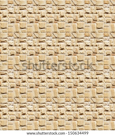 Masonry wall closeup seamless background. Texture pattern for continuous replicate. - stock photo