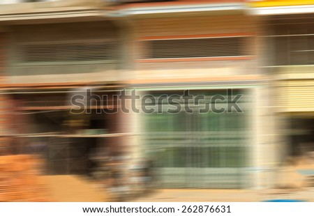 Masonry work in Phnom Penh serving as an intentionally blurred background - stock photo