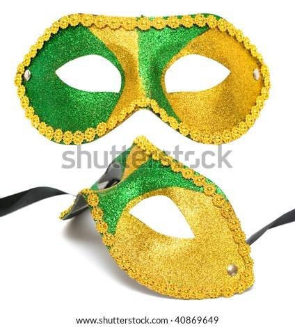 masquerade mask isolated on white background - stock photo