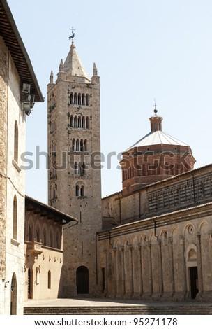 Massa Marittima (Grosseto, Tuscany, Italy), the medieval cathedral - stock photo