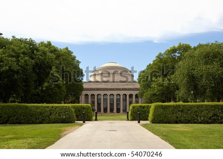 Massachusetts Institute of Technology in Boston, MA - stock photo