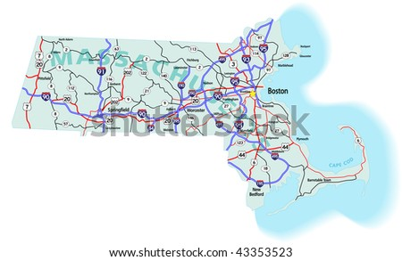 Boston Map Stock Images RoyaltyFree Images  Vectors Shutterstock - Map of us boston