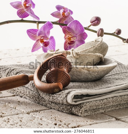 massage and footcare with femininity - stock photo