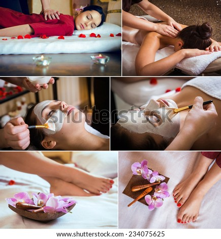 massage background - stock photo