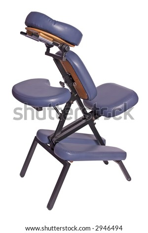 massage chair isolated on white background - stock photo
