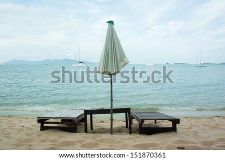 Massage on the beach, Samui. - stock photo
