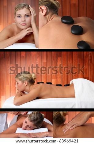 Massage relaxation - stock photo