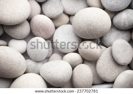 Massage stones. Massage pebbles. Various sizes. - stock photo