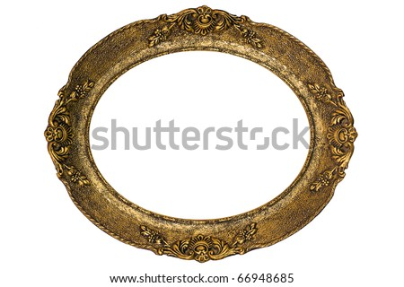 Massive old golden frame, high resolution - stock photo
