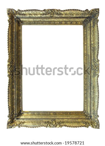 massive old stylistic frame No37 - stock photo