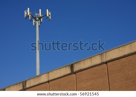 Mast on the building in Miami , USA. - stock photo