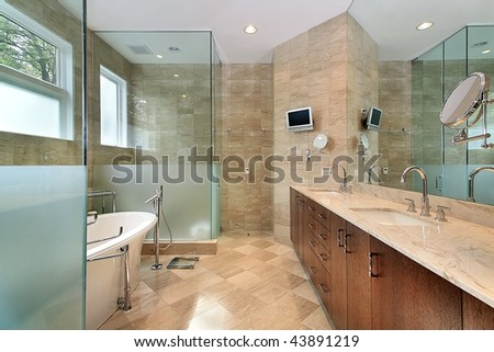 Master bath in upscale home