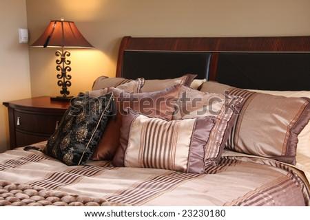 Master bedroom - stock photo
