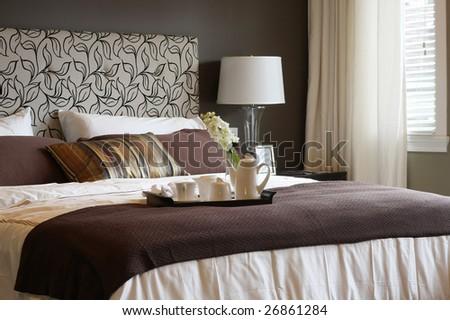 Master bedroom. - stock photo