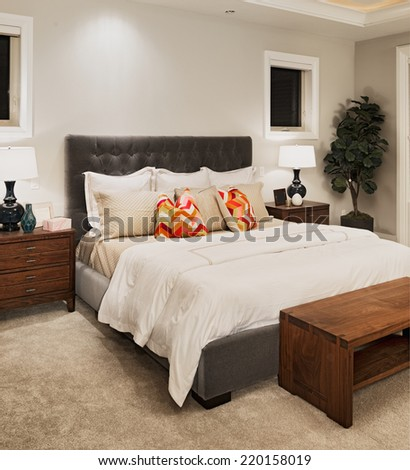 Master Bedroom in New Home - stock photo