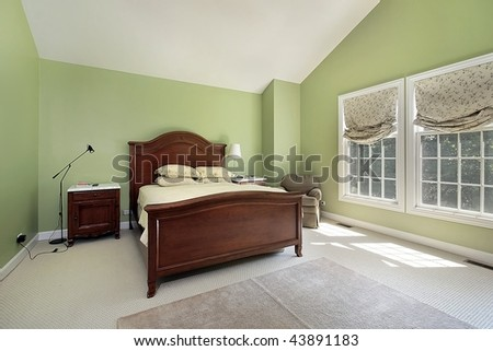 Master Bedroom Green Walls master bedroom green walls stock photo 43891183 - shutterstock