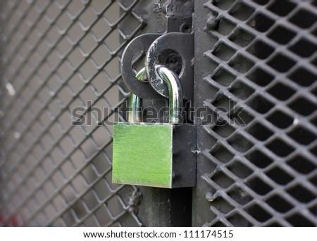 Master key lock the door. - stock photo
