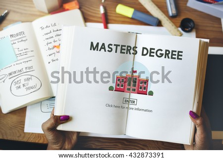 Masters Degree Education Knowledge Concept - stock photo