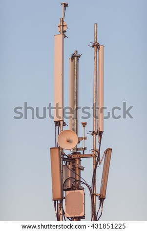 Masts and antenna cellular systems  - stock photo
