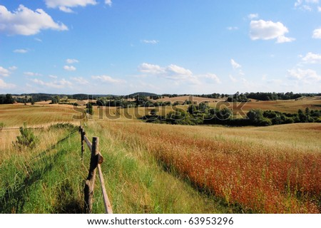 Masuria (field near Olecko) - stock photo