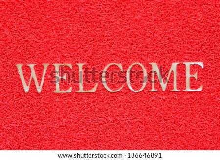 Mat doormat welcome mat - stock photo