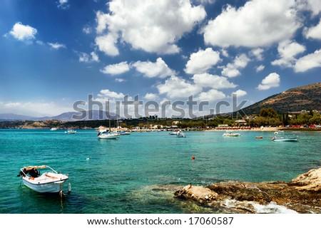 Matala coastline. Crete island. Greece. - stock photo