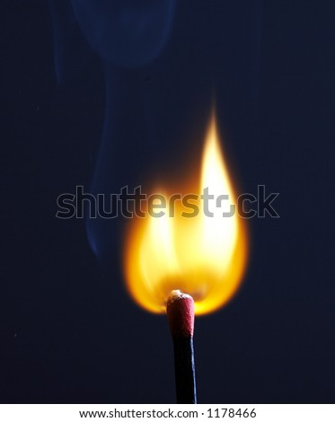 Match bieng lit - stock photo