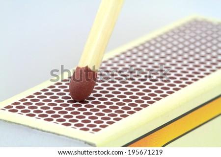 Match , extreme macro image - stock photo