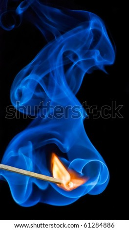 Match flame - stock photo