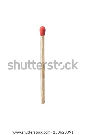 Match isolated on white background. Closeup shot. - stock photo