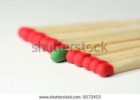 match leader - stock photo