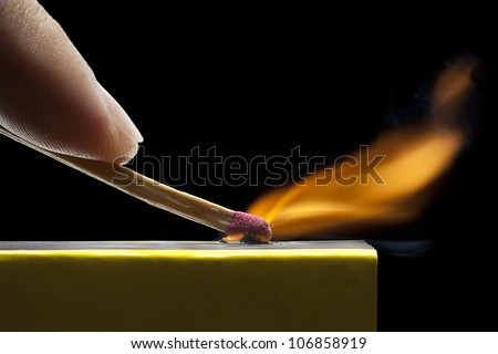 match strike - stock photo
