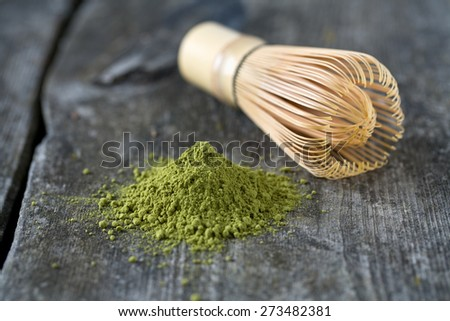 Matcha green tea - stock photo