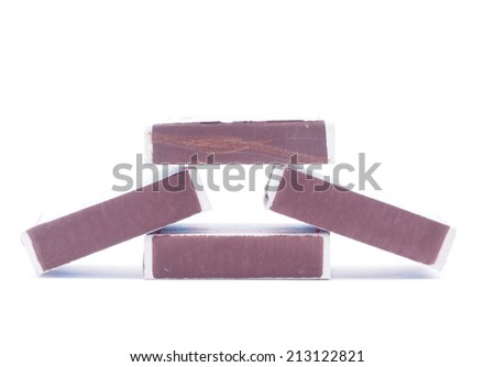 matchbox on a white background - stock photo