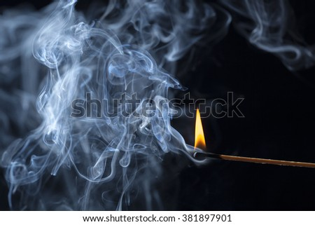 Matches and fire
