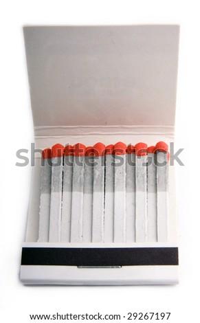 Matches and matchbox - stock photo