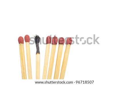 matches, conceptual for the burnout syndrome - stock photo