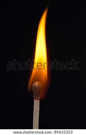 Matches igniting - stock photo