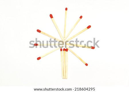 matches isolated on white  - stock photo