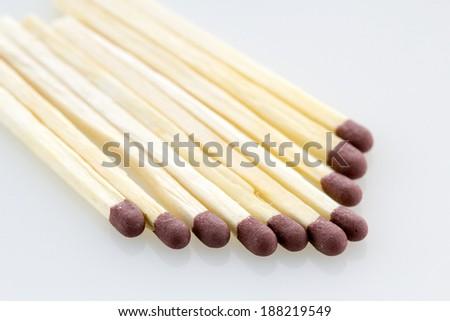 Matches isolated on white background - stock photo