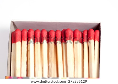 matches on white background - stock photo