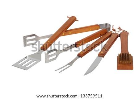 Matching barbecue utensils - stock photo
