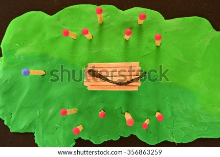 Matchstick Funeral - stock photo